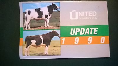 United Breeders Inc. 1990 Holstein Dairy Cattle Sire Directory Pocket Book