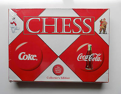 2002 Retired SEALED COLLECTOR'S EDITION Coca Cola Chess Set 32 Coke Glass Pieces
