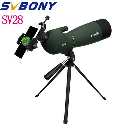 SVBONY 25-75x70mm Angled Zoom Spotting Scope Waterproof+Cell Phone Adapter Hot