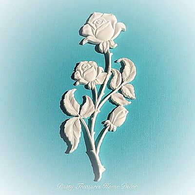 1x Shabby Chic Rose French Furniture Moulding Furniture Applique Carving Onlay