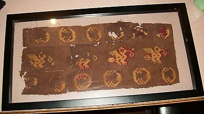 Antique Genuine REAL Authentic preColumbian Mummy cloth textile ancient material