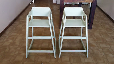 2 x Wooden High Chairs