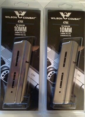 Lot of 2 - Wilson Combat 1911 Full Size 10mm 9 Round Magazine 9rd Mag 47NX - NEW