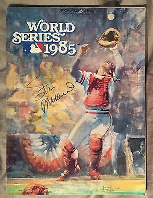 Stan Musial Signed Autographed 1985 World Series Program St Louis Cardinals