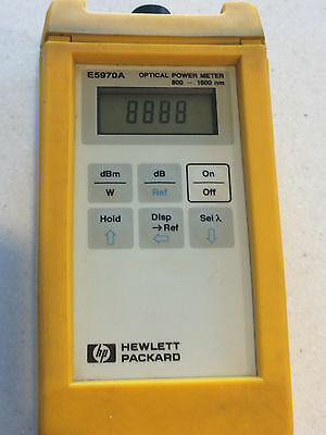 HP E5970A Optical Power Meter, Used, Working, 800-1600 nm