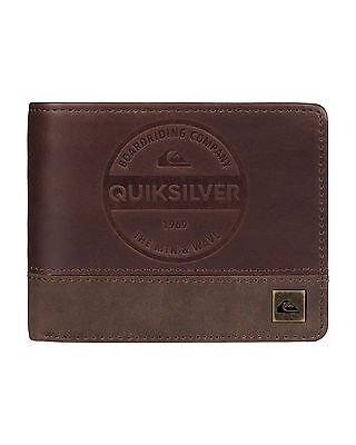 NEW QUIKSILVER™  Mens Royal III Leather Wallet