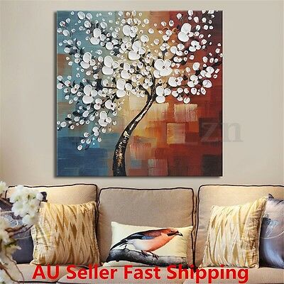 Framed Flower Tree Abstract Canvas Print Paintings Wall Picture Art Home Decor