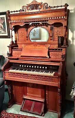 antique Organ , Hundred Year Old - Plus + Beautiful Solid oak , Perfect