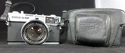 OLYMPUS 35 SP Rangefinder Film Camera W/ Sharp G.Zuiko 42mm f1.7 Lens W/ Case