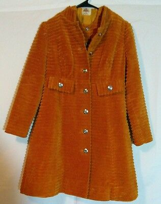 Vintage 60's LANZ Original Orange Dress with matching Jacket and silver buttons