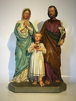 Vintage Statue Of The Holy Family