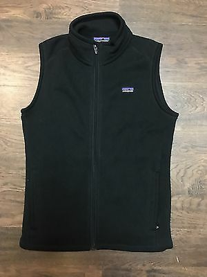 Patagonia Women's Better Sweater Vest Size Small Black Full Zip Up