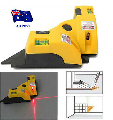 Vertical Horizontal Laser Line Projection Square Level Right Angle 90 degree EA