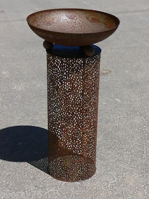 Design Bird Bath Cut Out Rust New 80Cm High Fire Bowl. Great Price