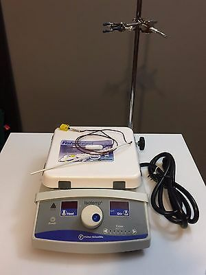 "Fisher Scientific Isotemp Hot Plate Magnetic Stirrer 7""x7"" w/ Probe Sensor CLEAN"