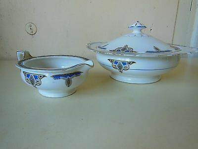 Antique Grindley Tunstall Tureen and Gravy Boat set