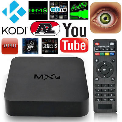 MXQ Smart TV Box Moives Android 4.4 Quad Core Media Player 1G+8G WIFI HD 1080P