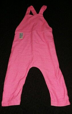 bonds pink neo terry overalls girls size 1 bnwt
