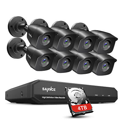SANNCE 5IN1 1080P HDMI 8CH / 4CH DVR CCTV Home Security Camera System IR Night