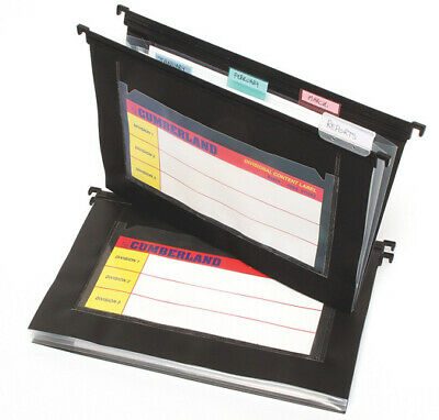Cumberland Suspension File Black With 4 Multi Pockets - 5 Pack