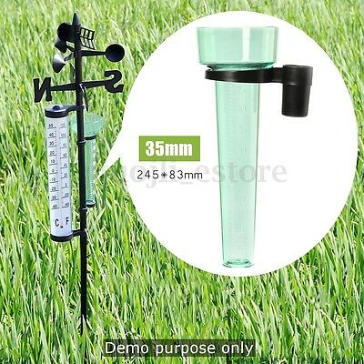"9.6"" Rain Gauge Up to 35mm Measurement Rainfall Resistant for Garden Outdoor"