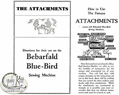 Bebarfald Attachments Instruction Book (repro)