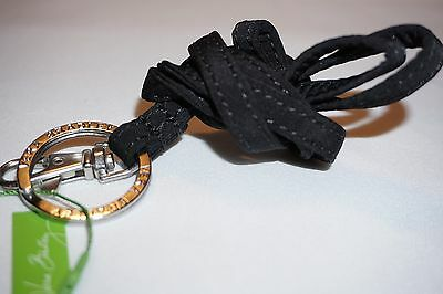 NWT Vera Bradley Lanyard ID Badge Holder With Key Ring CLASSIC BLACK Free Ship