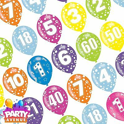 Generic Assorted Colour Latex Age Birthday Balloons Event Party Decorations