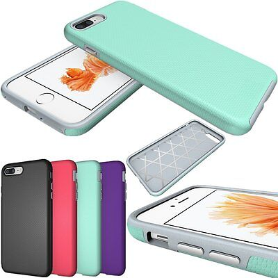 Hybrid Shockproof Slim Hard Skin Duty Case Cover For Apple iPhone 5S 6 6S 7 Plus