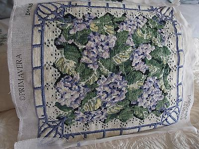 vintage Hand Stitched tapestry cushion front picture