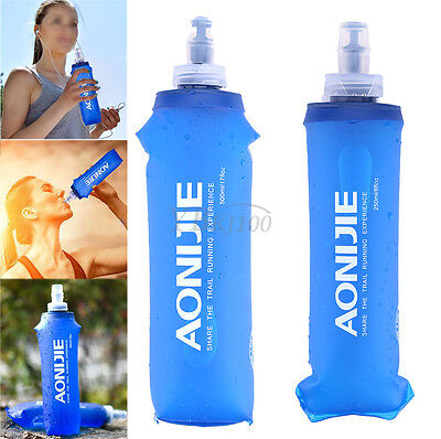 AONIJIE Utility 250/500ML Foldable Soft Flask TPU Squeeze Running Water Bottle