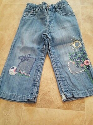 Girls Denim jeans with embroidery 18-24 months