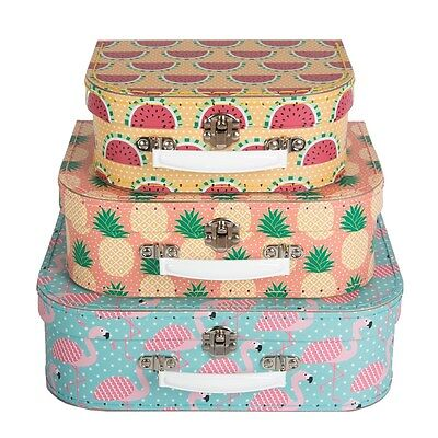 Tropical Summer Storage Suitcases