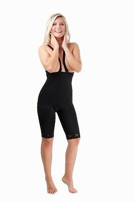 VF Comfort, Compression Bodysuit, No Bra, Above Knee, Post Surgery, Black, Small