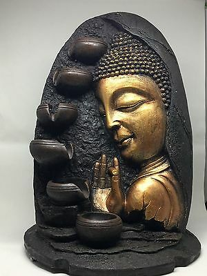 Buddha Water Feature - Purpose Indoor Waterfountain (Pump & LED included)