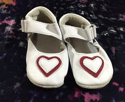 Baby Paws Girls Soft Leather Shoes Size 3 (9-12 Months)