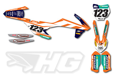 Motocross Dekor KTM SX - SXF - EXC 125 250 350 450 2000 - 2017  Graphic Design