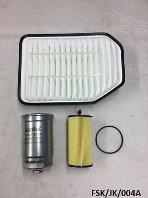 Air, Oil Filter & Fuel Filter Jeep Wrangler JK 2.8CRD 2007-2017  FSK/JK/004A