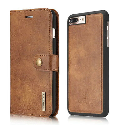 Luxury Magnetic Leather Detachable Wallet Card Case Cover For iPhone 6s 7 8 Plus