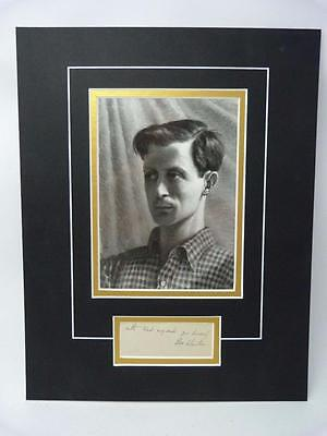 Original Rex Whistler SIGNED autograph and mounted portrait