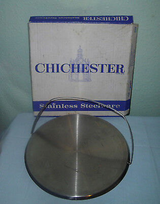 Vintage Chichester Stainless Steel Cake Stand-Boxed-c.1970`s