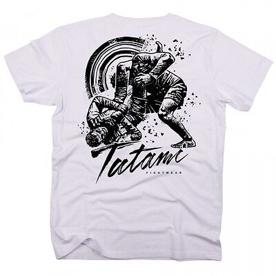 NEW! Tatami Grapplers Collective Triangle T-Shirt White BJJ Casual No-Gi MMA