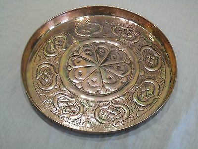 Beautiful Arts and Crafts Copper Bar Serving Tray