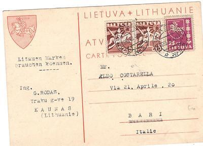 a157 Lithuania card to Italy