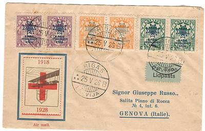 a158 Latvia Airmail cover to Italy