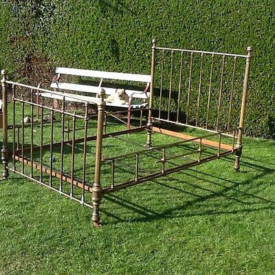 Antique Brass French Bed 4ft