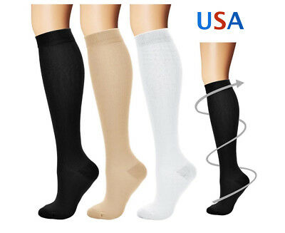 Compression Socks Pain Relief Calf Leg Support S/M-L/XL for Men and Women