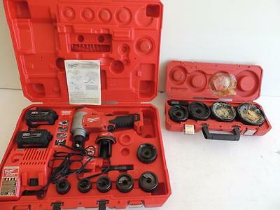 """Milwaukee M18 Force Logic Battery Powered Knockout Punch Set 1/2"""" To 4"""" Greenlee"""