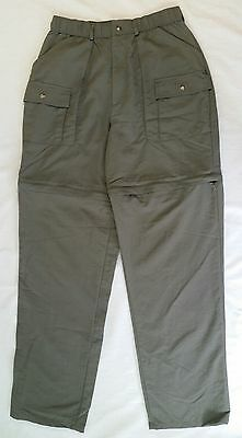 SPORTIF USA Sz M Convetible Nylon Cargo Pants / Shorts Olive Green Hiking Travel