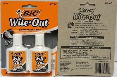 BIC Wite-Out Brand Correction Fluids, Quick Dry, 2-Pack